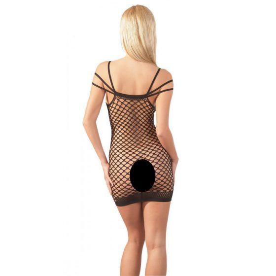 Mandy Mystery - síťované erotické minišaty - černé