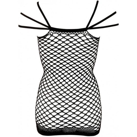 NO:XQSE - síťované erotické minišaty - černé