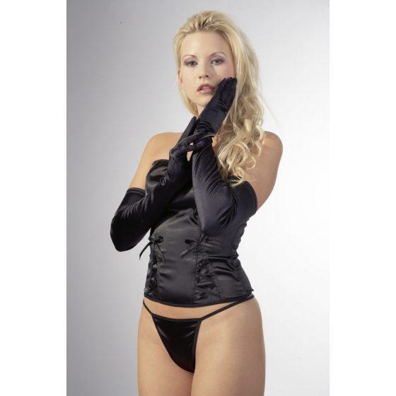 Cottelli saténové rukavice - černé