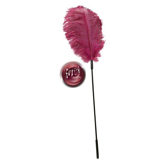 Fetish Collection - hladkadlo ze pštrosího peří růžové