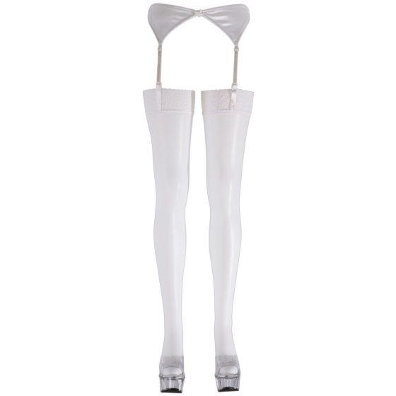 Krajkové punčochy - bílé