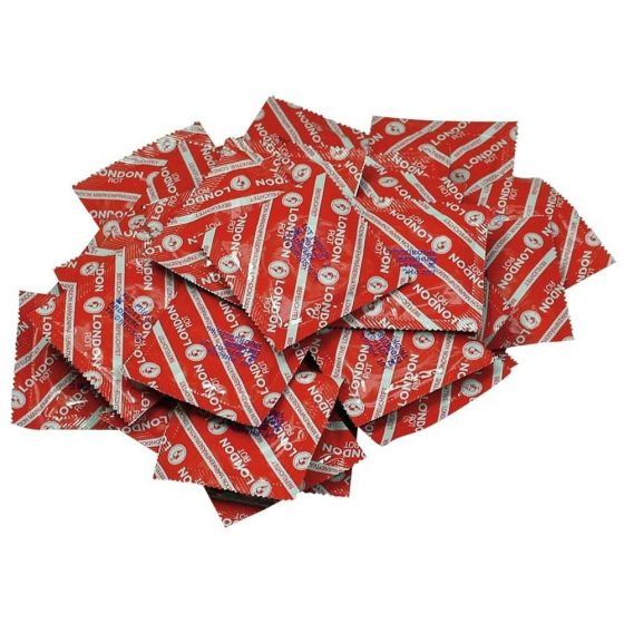 Durex London kondomy - jahodová příchuť (100 ks)