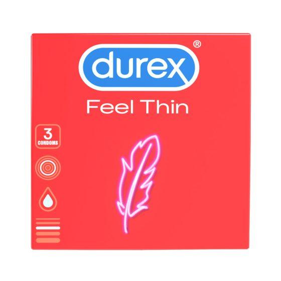Durex Feel Thin - kondomy s realistickým pocitem (3ks)