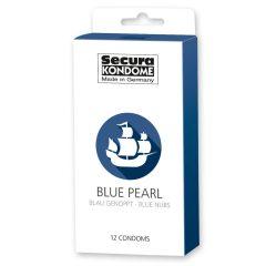 Secura Black Pearl - perličkové černé kondomy (12 ks)