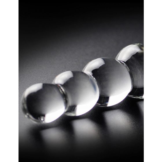 Pipedream Icicles No. 2 - skleněné kuličková dildo (průsvitné)