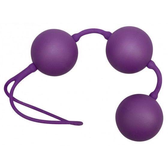 You2Toys Velvet Balls Triple - trojice venušiných kuliček - fialová