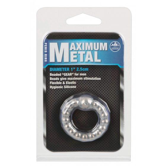 ORION Maximum Metal - kroužek na penis s kovovými kuličkami