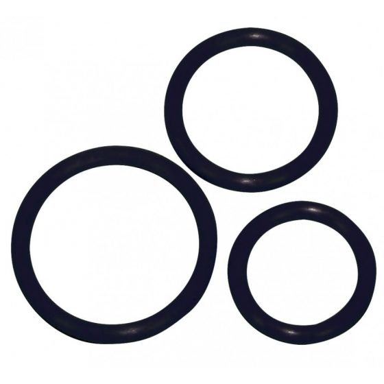 YOU2TOYS Sexy Circles - kroužky na penis černé (3 ks)