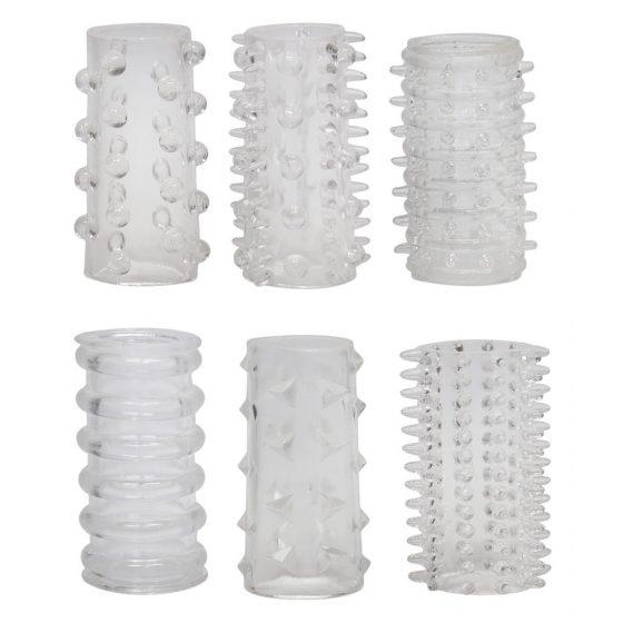 YOU2TOYS Red Roses - manžety na penis (6 dílná souprava)