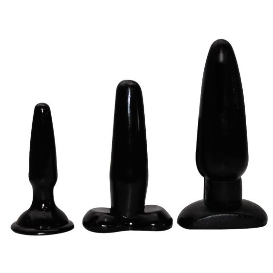 Liguorice Dip Butt Plugs - sada análných kolíkov (3 dielna)
