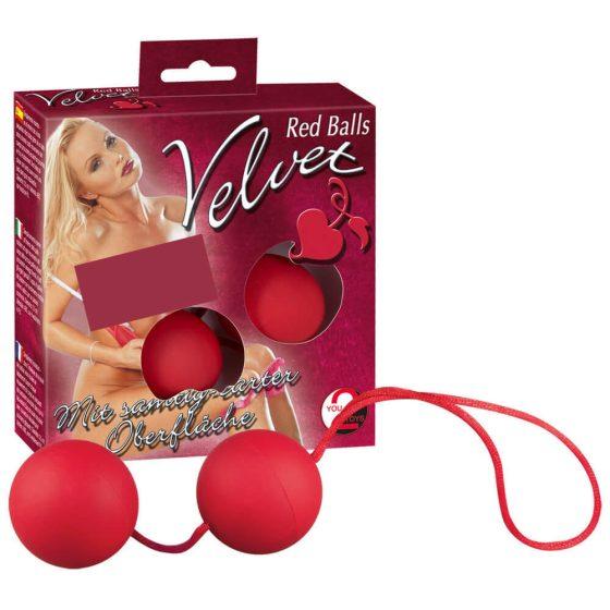 You2Toys Velvet Red Balls - venušiny kuličky (červené)