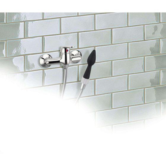 Rear Splash - silikonová sprchová hlavice (černá)