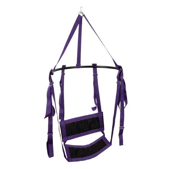 Fuck Swing - houpačka na sex se sedadlem (fialová-černá)