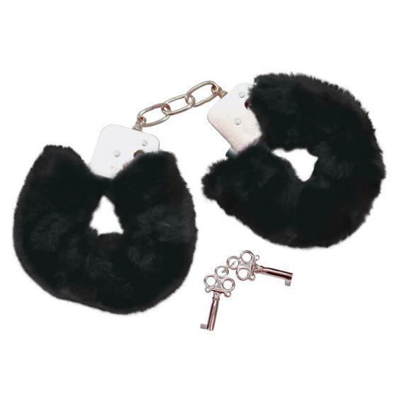 Bad Kitty - plyšové pouta - černé