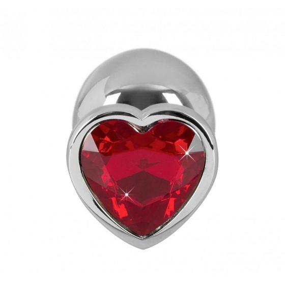 Diamond 85g Aluminum Dumbbell - dildo (červeno-stříbrné)