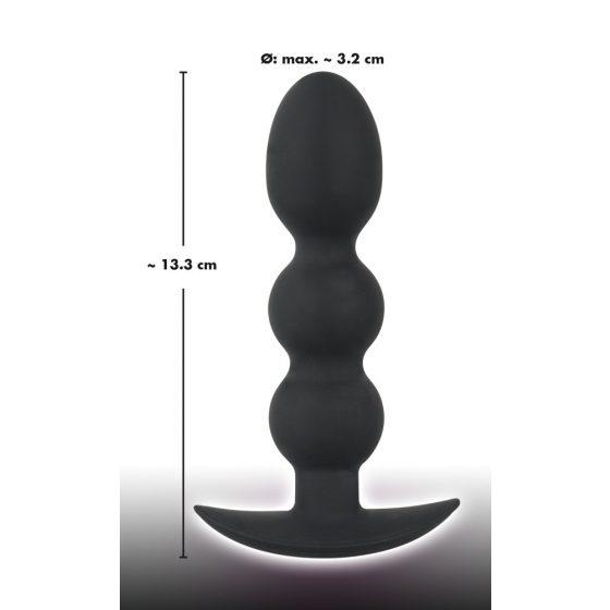 Black Velvet Heavy - anální dildo s kuličkami a hmotností 145g (černé)