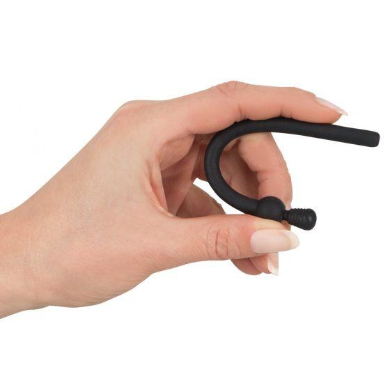 Dilatory - duté silikonové dildo na rozšiřování močové trubice - černé (7mm)