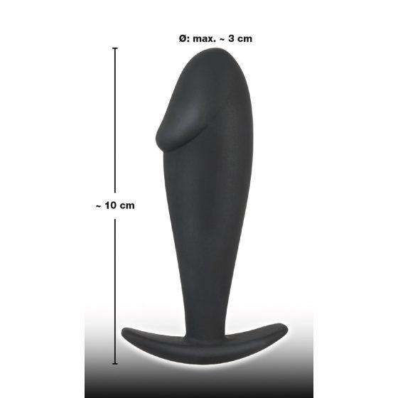 Black Velvet Butt Plug - anální dildo (černé)