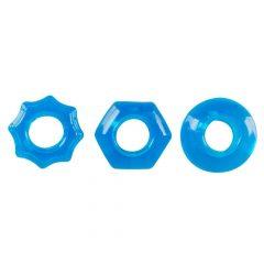 You2Toys Stretchy - trojice silikonových kroužků na penis (modrá)