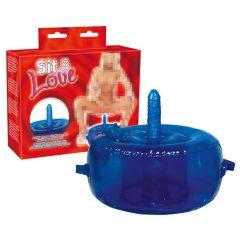 Vibračná sedačka lásky - modrá