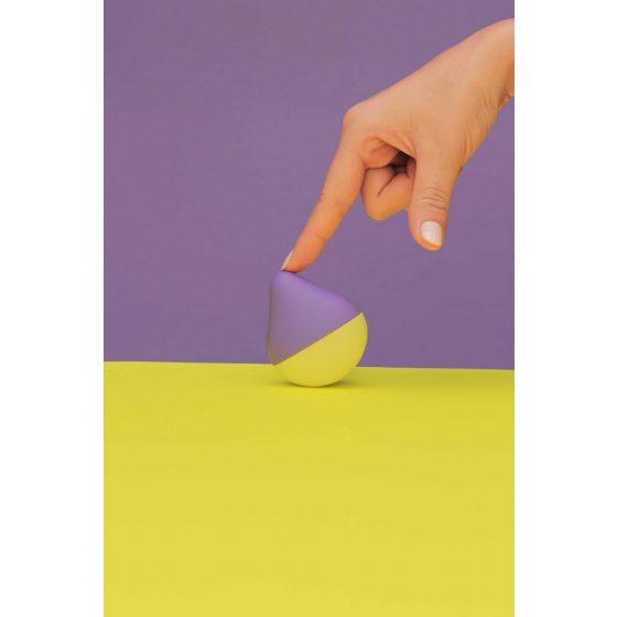 Iroha mini - mini vibrátor na klitoris (fialovo-žlutý)