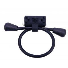 Nastavitelný silikonový vibrační kroužek (černý)