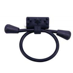 YOU2TOYS - nastavitelný, vibrační silikonový kroužek na penis (černý)