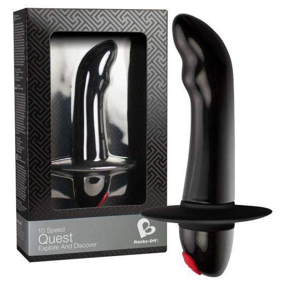 Rocks Off Quest - vibrátor na prostatu pro začátečníky s 10 rytmy (černý)