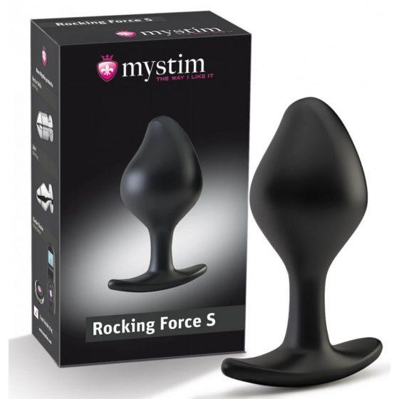 Mystim Rocking Force S - electro cone dildo - small (black)