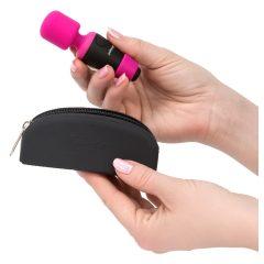 PalmPower Pocket Wand - nabíjecí masážní vibrátor (růžový-černý)