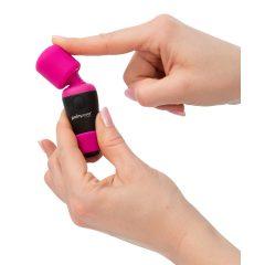 PalmPower Pocket Wand - Cordless Mini Massage Vibrator (Pink-Black)