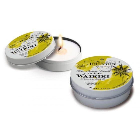 Petits Joujoux Waikiki - masážní svíčka - 43 ml (kokos - ananas)