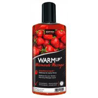 JoyDivision Warm Up Stawberry - hrejivý masážny olej jahodový (150ml)