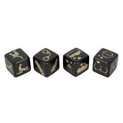 Erotická hra v kostky - černé (4 ks)