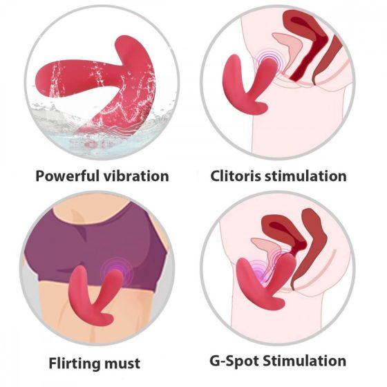 Cotoxo Saddle - nabíjecí vibrátor prostaty na dálkové ovládání (červený)