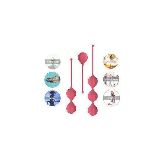 Cotoxo Belle - 3 dílná souprava venušiných kuliček (červená)