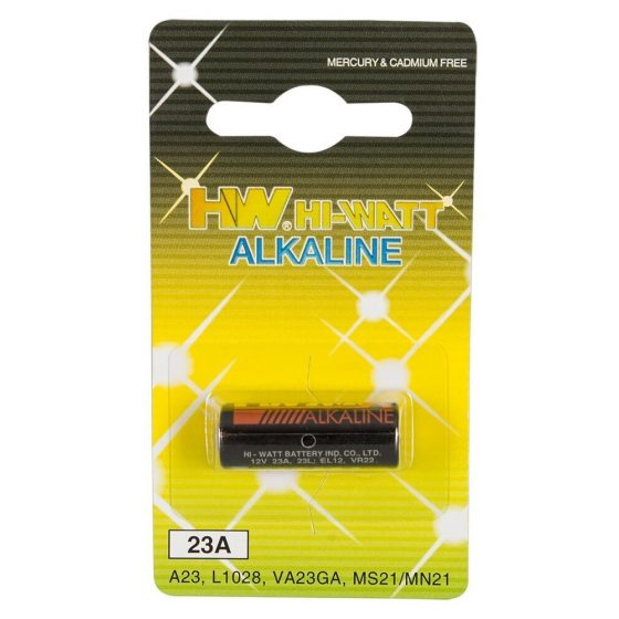 HW Hi Watt Alkaline LR23A - alkalické batérie LR23A (2ks)