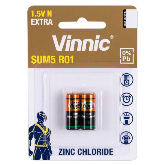 Vinnica SUM5 R01 - alkalické baterie typu N LR1 (2ks)