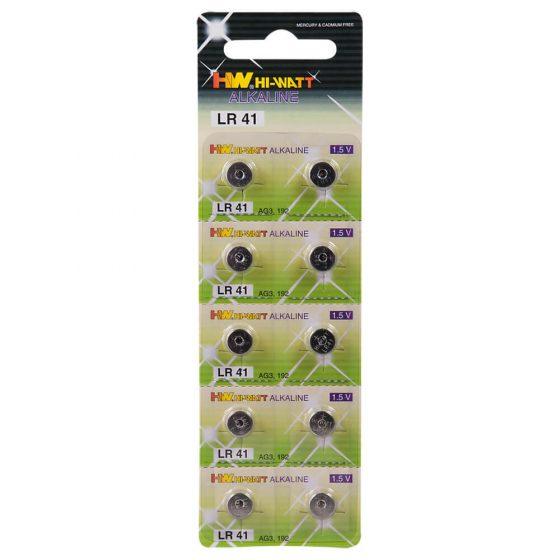 Alkalické knoflíkové baterie LR41 (10ks)