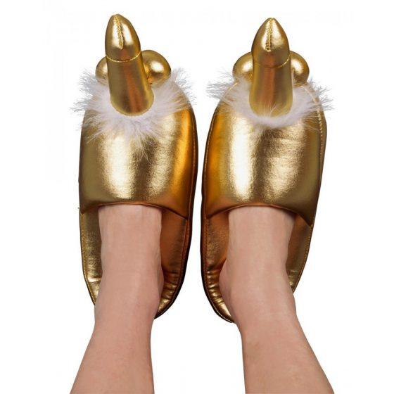 Zlaté pantofle - s penisem