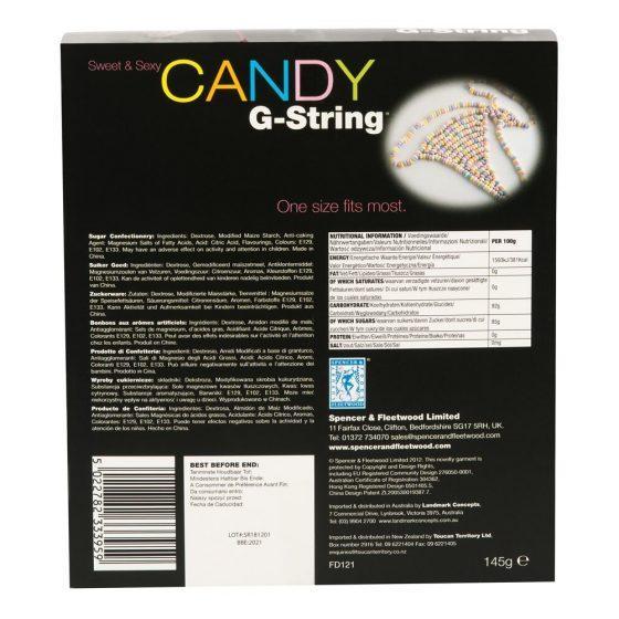 Spencer&Fleetwood Candy G String - dámske tangá z ovocných cukríkov (145g)