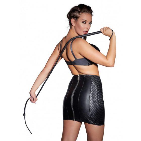 ZADO - hand-woven, genuine leather whip (black)