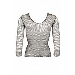 MandyMystery Netzshirt – tričko s dlouhými rukávy ze síťovaného materiálu (černý)