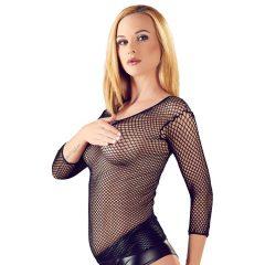 NO:XQSE - Netzshirt – tričko s dlouhými rukávy ze síťovaného materiálu (černý)