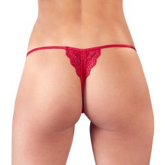Mandy Mystery - open lace thong (red)