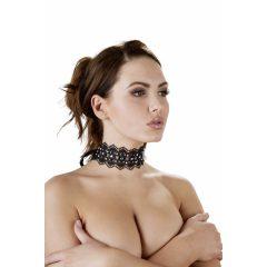 Cottelli Jewels - krajkový límec s perlami a štrasovými ozdobami