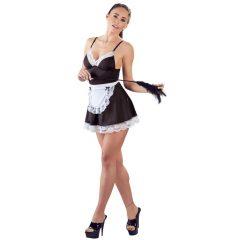 Cottelli - sexy šaty pokojské se zástěrou (černobílé)