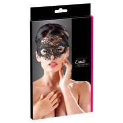 Cottelli - vyšívaná, krajková maska na obličej (černá)