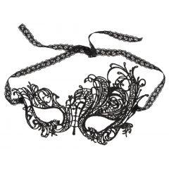 Cottelli - vyšívaná, asimetrická maska na obličej (černá)