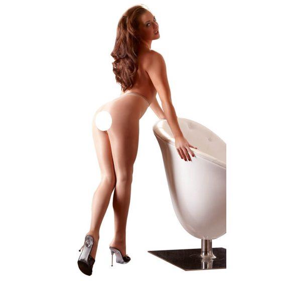 Cottelli Collection - tělové punčochy s otvorem
